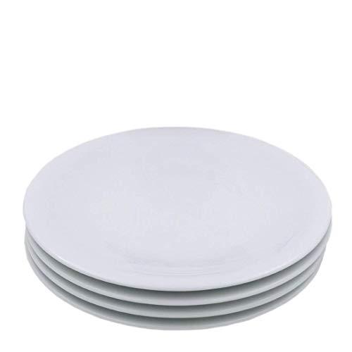 Kahla 32B263A90032C Update Kuchenteller für 4 Personen 4-teiliges Tellerset aus kleinen Tellern weiß modern Porzellan