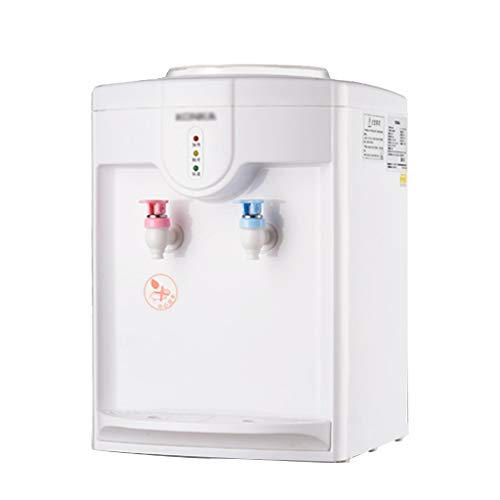 Dispensador de agua Agua Caliente y fría embotellada fría Muy Alta Capacidad de Escritorio de la máquina de Agua, Ideal para oficinas y Salas reuniones,con Inoxidable Recipiente Interior (Blanco)