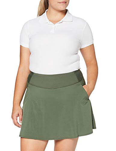PUMA Pwrshape Solid Woven Skirt Falda, Mujer, Thyme, M