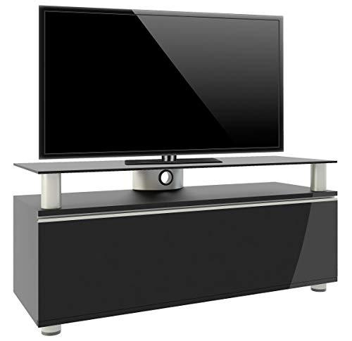 VCM TV Lowboard Schrank Tisch Fernseh Sideboard Rack Holz Schwarz