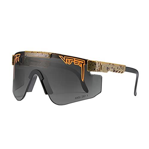 JLJLJL Gafas de Ciclismo Los Hombres polarizados, Deportes al Aire Libre, a Prueba de Viento, Gafas UV400, Son Muy adecuadas para el Ciclismo de Pesca y Actividades al Aire C14