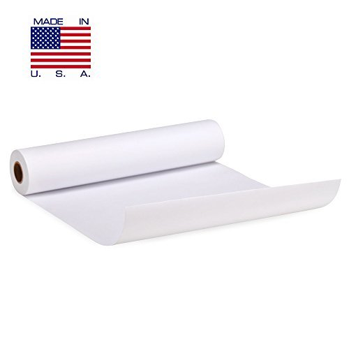 White Arts and Crafts Paper Roll - 18 inch by 200 FEET - Kraft Art & Construction Paper - Perfect for Wall Art, Painting Paper, Drawing Paper, Paper Roll for Kids Easel & Wrapping Paper - Made in USA