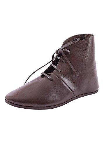 Ulfberth Mittelalterliche Schnürschuhe, halbhoch aus Leder - Mittelalter, Wikinger, LARP, Schuhe Schuhgröße 41