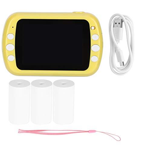 Cámara para niños, fotografía instantánea, 3.5in 1080P Cámara pequeña instantánea Digital de doble lente Impresión térmica Regalos para niños Soporta grabación de video (rollos de papel de impresora1
