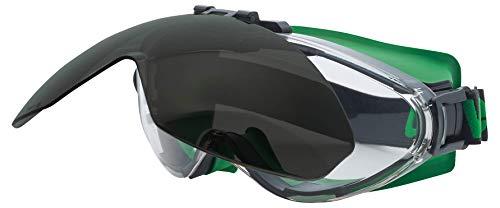 Uvex Ultrasonic Schweißerschutzbrille - flip-up - Supravision Excellence - Schwarz/Grün-Schwarz
