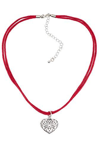 Krüger MADL Halskette Promise rot | Süße Trachtenkette mit Herz-Anhänger | Kette zum Dirndl