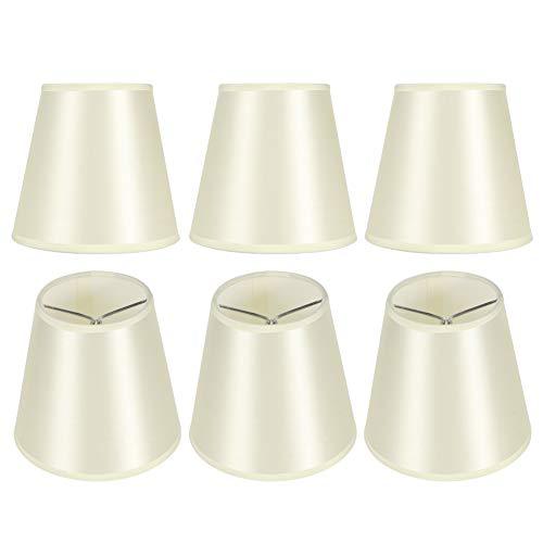 Pantalla de lámpara de Mesa de 6 Piezas, Pantalla de lámpara, Cubierta de lámpara, lámpara de Pared de lámpara E14, decoración del hogar para Salas de Estar, cafeterías, hoteles, Estudios,