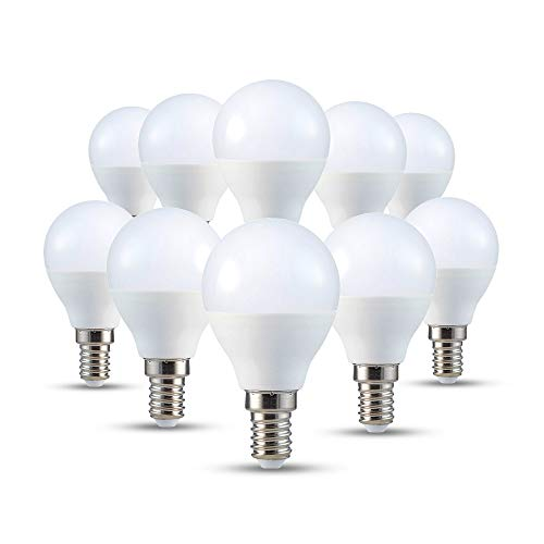 V-TAC E14 LED Lampe P45, Tropfenform, 5.5W (ersetzt 40W), warmweiß, 10er-Pack