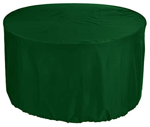 KaufPirat Premium Afdekzeil rond Ø 150x95 cm Tuinmeubelen Tuintafel Afdekking Beschermhoes Afdekhoes Outdoor Round Patio Table Cover Dennengroen
