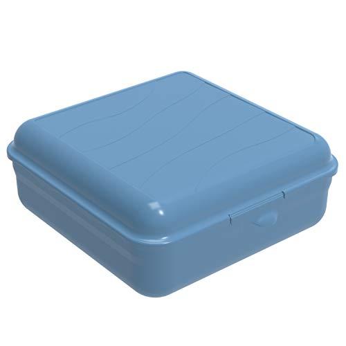 Rotho Fun Vesperdose 2,35l mit Klickverschluss, Kunststoff (PP) BPA-frei, blau, 2,35l (20,0 x 19,5 x 8,0 cm)