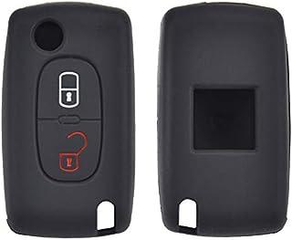 XUKEY 2 Tasten Silikon Auto Fernbedienung Schlüsselhülle für Peugeot 308 207 307 807 Citroen C3 Picasso C Crosser C4 Versand C8
