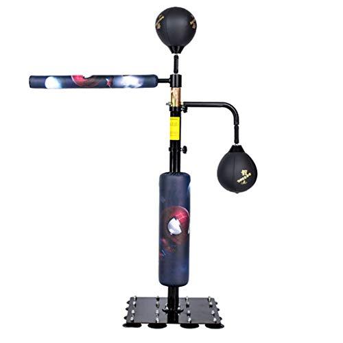 Boxsack Boxreaktionsziel Rotierender Reaktor Speedball Multifunktionales Haushaltsboxziel Geeignet Für Kinder Und Erwachsene (Color : Black, Size : 120-190cm)
