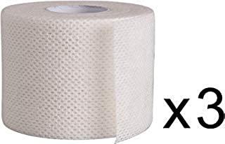 """Surgical Tape Porous Skin Soft Fabric Cloth Adhesive Tape 2"""" x 10 Yards Three Rolls; by Areza Medical"""