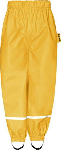 Playshoes Baby-Unisex Fleece-Halbhose Regenhose, Gelb (Gelb 12), 92