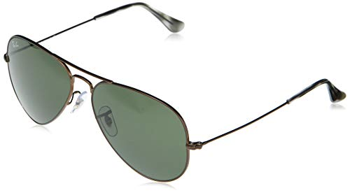 RB3025 Aviator Classic Sunglasses, Sand Transparent Brown/Green, 62 mm