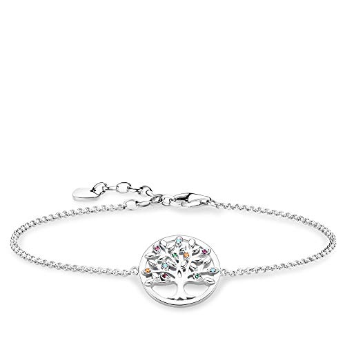 THOMAS SABO Damen Armband Tree of Love 925er Sterlingsilber, Geschwärzt A1868-477-7