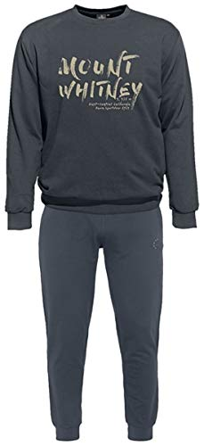 Ahorn Sportswear grote maten joggingpak Mount Whitney groen beige Iron Grey