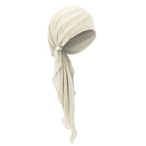 Sharplace Gorro Sombrero de Chemo Turbante de Cabeza Pañuelo Pre Atado para Cáncer Quimioterapia Oncológico Noche