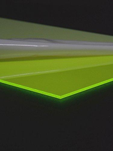 3mm Negro Luz acrílico cristal placa Neon fluorescente verde, 60x 30cm