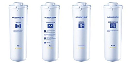 Set of four replacement filter cartridges for Aquaphor Morion - reverse osmosis water filtration system.