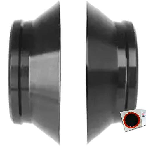 Novatec Ausgleichshülse Ultralight 3 in 1, 12mm Schnellspanner schwarz + Flicken