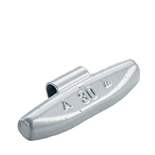 100x Poids marteau pour jantes en aluminium de type63 30g argentés | Poids marteau en aluminium poids d'équilibrage jante en aluminium | Poids d'équilibrage jantes en aluminium