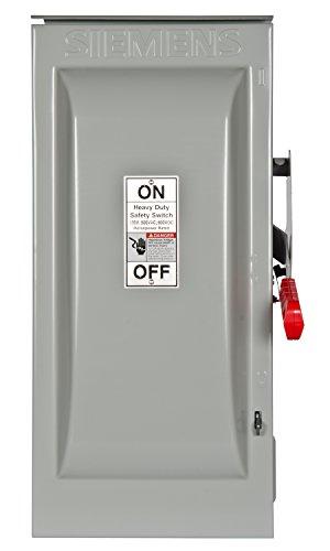 Siemens HF363R - Interruptores de seguridad resistentes de 100 A, 3 polos, 600 voltios, 3 cables