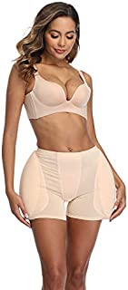 2PS SPONGE padded Women Butt Hip Up Padded Enhancer Hip-up pants for low-rise miniskirts (3XL, Beige)