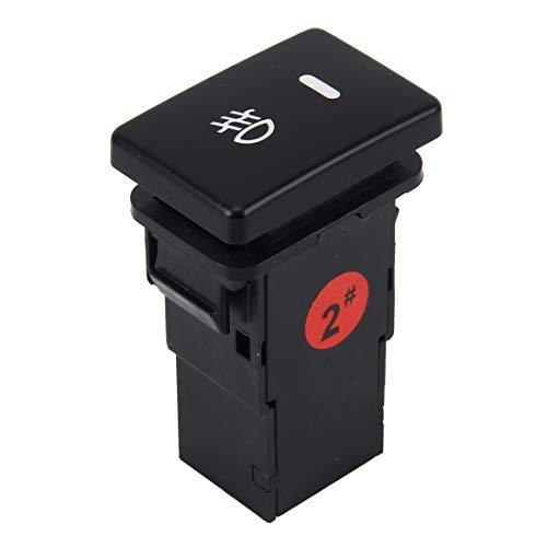Interruptores de botón eléctricos para automóviles Niebla del coche de la lámpara de luz Indicador encender o apagar el botón interruptor de control automático de coches luz de niebla de 5 pines de en