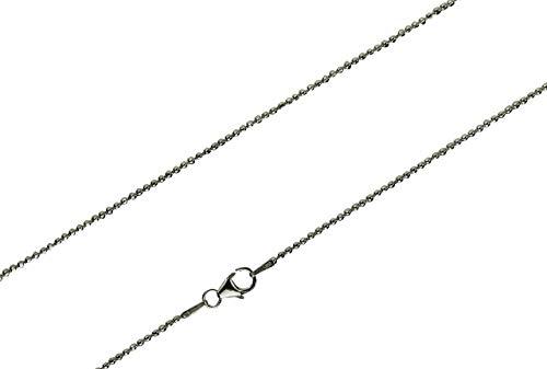 SILBERMOOS diamantierte Kugelkette Damen Kette fein glänzend Qualitätskette aus Italien 925 Sterling Silber 42 45 50 cm, Länge:42 cm