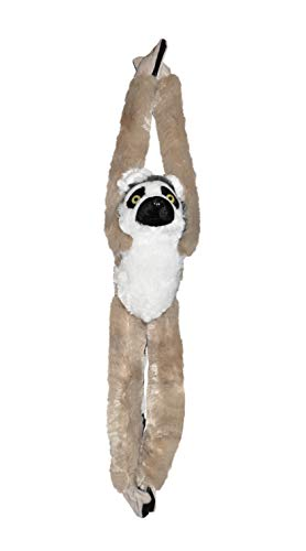 Wild Republic 15261 - Hanging Monkey Katta Lemur Plüsch-Affe, 51 cm