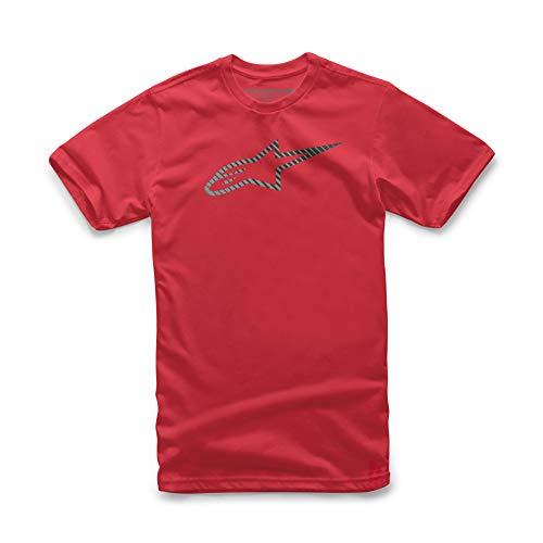 Alpinestars Herren Kurzarm-Logo T-Shirt moderner Schnitt, red, L, 1119-72002