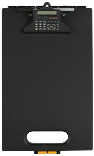 Dexas Clipcase Calculator Storage Clipboard, Black