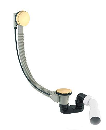 CGS TK 104 PVD GOLD Badewanne Ablaufgarnitur mit Überlauf Komplettset Siphon