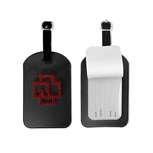 R-AMms_Tein etiqueta de equipaje para equipaje equipaje identificador viaje microfibra pu cuero
