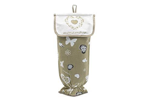Porta bolsas de cocina 100% algodón, porta bolsas de plást