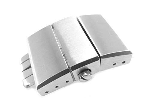 20mm Correa de Reloj de Acero Inoxidable sólido Plata despliegue Ulysse Nardin Estilo Repuesto