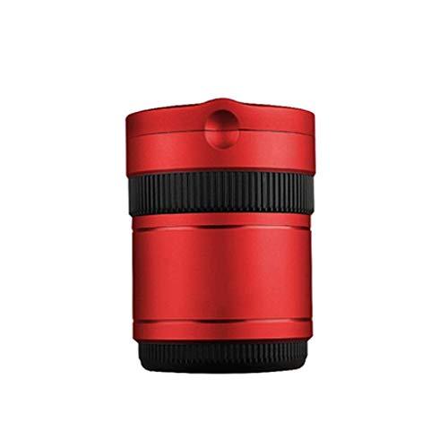 SKYEI Cenicero extraíble de Metal + ABS Multifuncional con Tapas, retardantes de Llama, decoración del Coche, Bandeja de Ceniza Cubierta con Soporte de Cigarrillos Ligero (Color : Red)