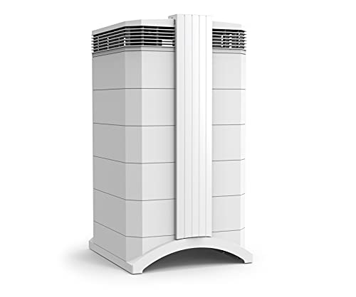 IQAir HealthPro Plus Air Purifier - Medical Grade H13 HyperHEPA filter for home large room, Air Cleaner for Viruses, Bacteria, Allergens, Asthma, Smoke, Mold, Pets, Dust, Odor, Swiss Made, White