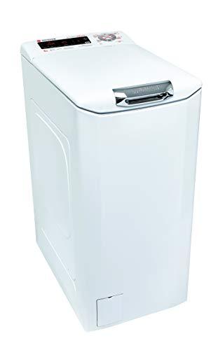 Hoover HNFTS S684TAH-01 Waschmaschine, freistehend, 8 kg, 1400 U/min, A+++ – Waschmaschinen (freistehend, Toplader, Weiß, Tasten, Touchscreen, hoch, 180 °)