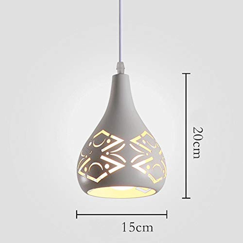 OPmeA Kreatives Restaurant Beleuchtung Moderne Minimalistische Persnlichkeit Nordic Kronleuchter DREI-Kopf Schmiedeeisen Wohnzimmer Schlafzimmer Kronleuchter (Farbe   Wei, gre   Single-Head)