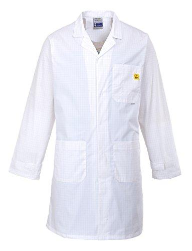 PORTWEST Anti-Statik Önlük/Mantel, 1 Stück, XL, Weiß, AS10WHRXL