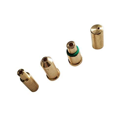 SMTHOME 4 STÜCKE Ersatz Messing Gas Refill Adapter für S T Dupont Feuerzeug Gelb/Rot/Grün/Blau Kappen DIY Reparatur Teil