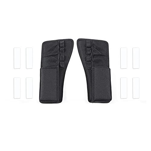 jinxiuqiancheng Ajustar para 2015-2021 Dodge Cartel Center Console Gear Shift May Shift Mayor de Almacenamiento Bolsa de Organizador, Caja de Almacenamiento Lateral de Espacio de Asiento, 2pcs