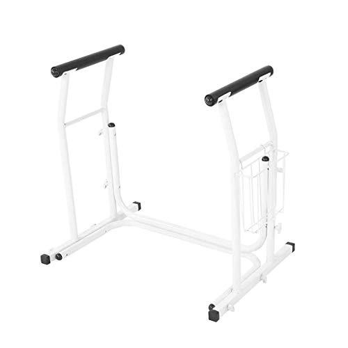 Ladder Sicherheitsgestelle für Toiletten mit Haltegriff und Aufbewahrungskorb Toilettenhalter Handlauf Ideal für ältere und behinderte Menschen