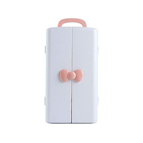 JCXOZ Caja de Almacenamiento cosmética Polvo del Estante de Escritorio de Puertas Abiertas Simple Acabado Parrilla del cajón Lindo Acabado Rack (8.3x8.7x14.8 Pulgadas) Cajas y organizadores de j