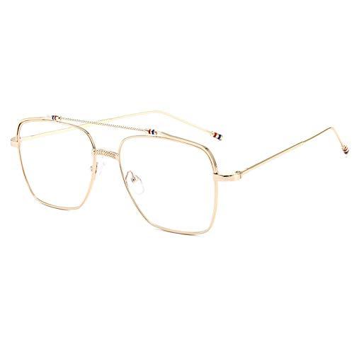 XINMAN Gafas De Sol A Prueba De Viento De Moda Gafas De Sol Polarizadas De Moda Gafas Personalizadas Anti-Azul Lente Plana Marco Dorado Luz Plana