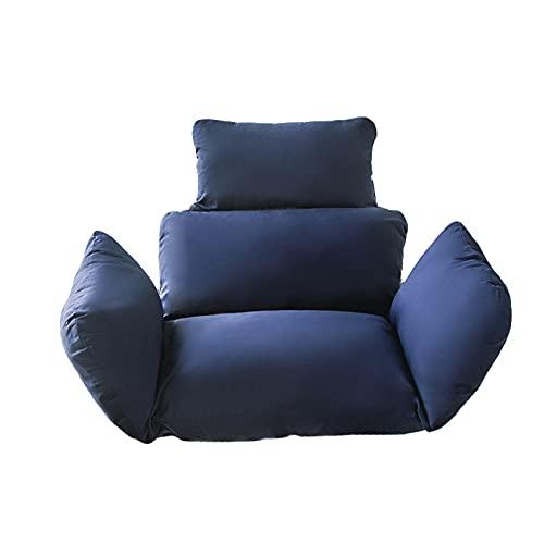 Ferocity Cojín para silla colgante,Columpio Cesta Colgante Cojín,Acolchado,para columpio de ratán/ratán,Cesta colgante,Cesta de columpio,Cojín de respaldo (Silla No Incluida)(Color:azul marino)
