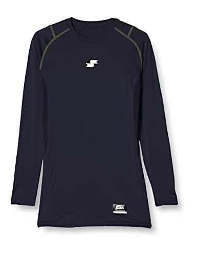 [エスエスケイ] アンダーシャツ SCβやわらかローネック長袖フィットアンダーシャツ メンズ SCB019LL ネイビー (70) L