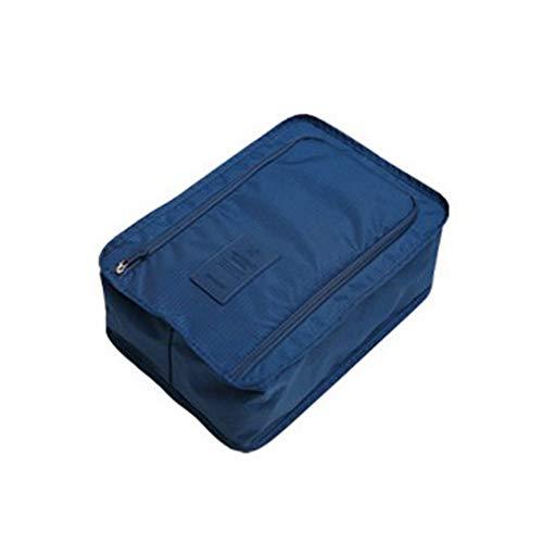 Bolsa de Zapatos Bolsa de Almacenamiento de Zapatos al Aire Libre Zapatos Impermeables Organizador de Almacenamiento Bolsas con Cremallera Hombres y Mujeres (Azul)